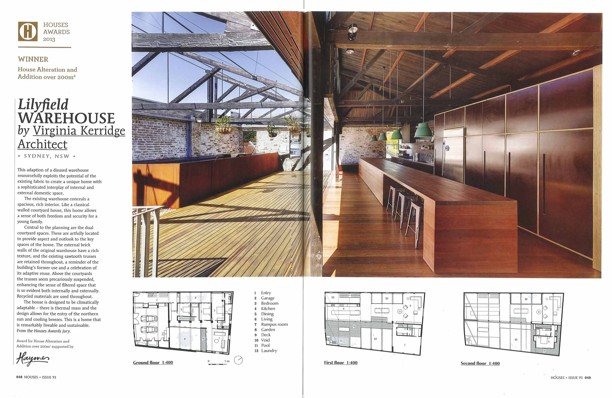 Houses Magazine Issue 93 2013 Lilyfield Warehouse